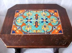vintage-California-tile-Tables-Monterey-Furniture Tile Tables, Adobe House, Vintage California, Spanish, Decorative Boxes, Furniture, Home Decor, Decoration Home, Room Decor