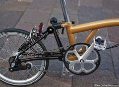 "Brompton Limited Edition Black & ""Special gold metallic matt"" www.bromptonjunction.it"