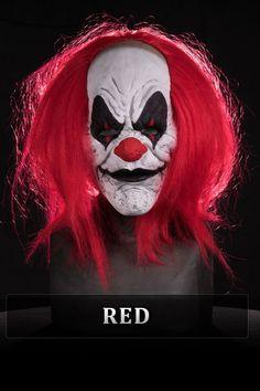 clown half mask silicone mask by Immortal Masks Evil Clown Mask, Scary Clown Face, Clown Faces, Scary Faces, Evil Clowns, Scary Clowns, Scary Halloween Decorations, Scary Halloween Costumes, Halloween Fun