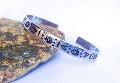 #Lotus #Tribal  Cuff #Bracelet by BlissfulBirdDesigns on Etsy, $16.95 #jewelry #accessories #fashion