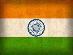 India Flag Vintage Distressed Finish Mixed Media