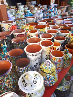 Handmade vases.