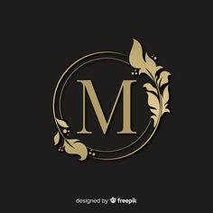 Logotipo elegante dourado com moldura Vetor grátis Logo Restaurant, Logo Boutique, Design Autos, Design Cars, Alphabet Wallpaper, Marken Logo, Luxury Logo, Floral Logo, Free Logo