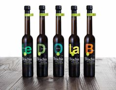 Brachia Varietal Olive Oil on Packaging of the World - Creative Package Design Gallery Olive Oil Packaging, Black Packaging, Bottle Packaging, Olives Image, Label Design, Package Design, Bottle Design, Packaging Design Inspiration, Glass Bottles