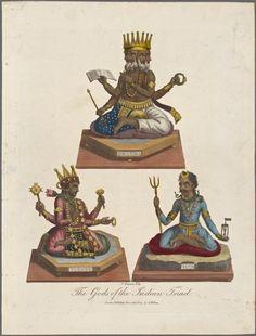 Os Deuses da Tríade Indiana - - - - - - - - - -   - - - - - - - - - - - - - - - - - - - - - - - - -  - - - - - --  - - - - - por Chapman, John (1792-1823)