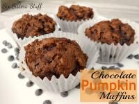 Six Sisters Chocolate Pumpkin Muffins (only 3 ingredients!).  These are so easy and taste amazing!