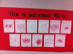 Not a Box (Tools of the Mind curriculum) Great for Work Sampling!!!