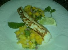 Grilled Halibut & Pineapple Mango Salsa
