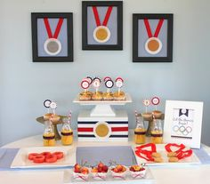Olympics Dessert Table with Free Olympics Printables *** Now Updated for 2016 Olympics ***