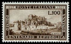 Philasearch.com - Italy, Scott 518. Description 100L Brown, OG, NH, stunning sharp color, fresh and Superb Gem, a great looking stamp Catalog value: 255.00  Lot condition **  Dealer Aldrich Auction  Auction Starting Price: 100.00 US$
