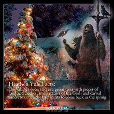 Vikings and Yule Pagan Yule, Norse Pagan, Norse Mythology, Viking Christmas, Pagan Christmas Tree, Magical Christmas, Thor, Viking Quotes, Viking Life