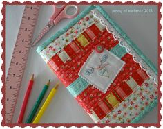 Jenny of ELEFANTZ: Tutorial : bound diary/journal cover...