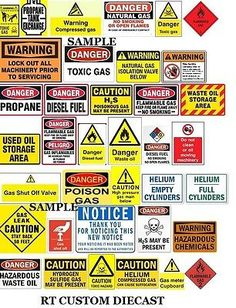 1-18-WARNING-signs-2-2-sheets-for-your-shop-garage-diorama-accessories