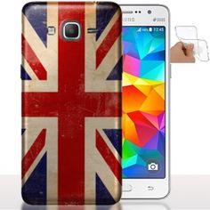 Étui de téléphone Samsung Galaxy Grand Prime Union Jack | Housse Silicone Drapeau Anglais Vintage. #UnionJack #Coquetelephone #GrandPrime #Angleterre