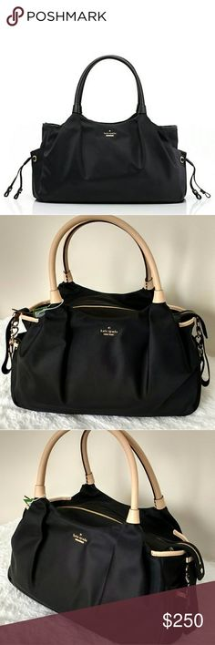 KATE SPADE, Classic Nylon Stevie Baby Diaper Bag. NWT. - The Classic nylon Stevie boasts plenty of baby-friendly features (starting with the durable, wipeble material). But it's the sweet details and stylist shape that make this bag a Mom must-have, almost as cute as your little one ! kate spade Bags Baby Bags