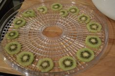 Ever since I purchased this awesome Dehydrator, I have been basically dehydrating every fruit and vegetable in my kitchen. Last night after my small fry went to bed, I was cleaning the kitchen and I spotted these Kiwis. I cut them up and threw them into the dehydrator and let them sit overnight. This morning I woke up to this. A Wonderfully crispy tart Kiwi Chip! They taste awesome! After taking some pictures. My son and I gobbled them up for breakfast! All I have to say is how cute…