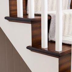 A cut string staircase adds a unique, superior design feature to any home.
