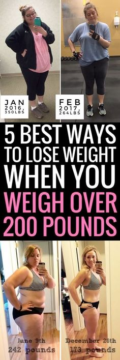 5 best ways to lose weight if you currently weigh over 200 pounds.