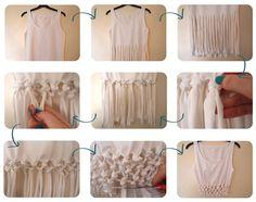 DIY : Cut & Tie knotted crop top // Tee-shirt brassière customisé