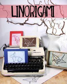 Linolschnitt: Anleitung für ein Linorigami