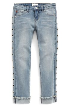 Hudson Kids 'Stella' Grommet Cuff Jeans (Big Girls)