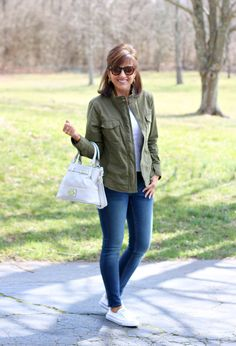 27 Days of Spring Fashion: Utility Jacket - Grace & Beauty