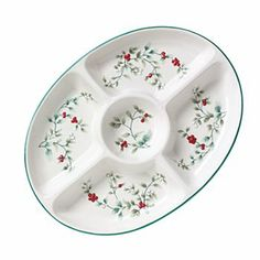 Pfaltzgraff Winterberry 5-Section Serving Tray