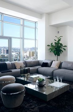 Carlyle Residences in Los Angeles, CA Turn key interiors project by Luxury Living Contract
