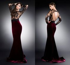 Find More Evening Dresses Information about Burgundy Red Mermaid Evening Dress O Neck See Through Long Sleeve Evening Gowns Open Back Floor Length Long Evening Dresses,High Quality dress jacket wedding guest,China dress up games dress Suppliers, Cheap dress up games wedding dress from Amanda's Dress House on Aliexpress.com