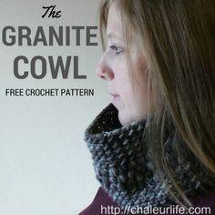 granite cowl free crochet pattern