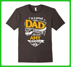Mens Amy DAD Shirt Proud Daddy Of Amy Father Daughter Matching Small Asphalt - Relatives and family shirts (*Amazon Partner-Link)