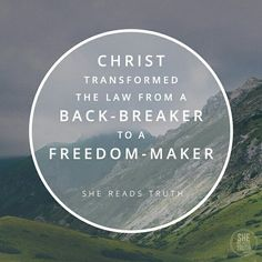 On that mountwith the people gathered close and His disciples gathered closerJesus preached a religion that was not about doing but about being.He transformed the law from a back-breaker to a freedom-maker. #shereadstruth #sermononthemount