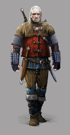 Witcher 3 Wild Hunt Concept Art - Vesemir