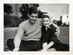 """""""He invited me to dinner one night and spent most of the evening telling me how much he still loved and missed Lombard, his third wife, killed in a place crash."""" ~Clark Gable and Gene Tierney Hollywood Icons, Golden Age Of Hollywood, Vintage Hollywood, Hollywood Glamour, Hollywood Stars, Classic Hollywood, Classic Movie Stars, Classic Movies, Old Movies"""