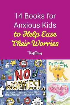 14 Books for Anxious Kids to Help Ease Their Worries – Mykidstime How To Start Conversations, Young People, Parenting Advice, Anxious, Book Activities, No Worries, Entertaining, Feelings, Books