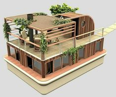 From Architecture & Design Interior Architecture, Interior And Exterior, Amazing Architecture, Floating House, Sims House, Shipping Container Homes, Tiny House Design, Outdoor Furniture Sets, House Plans