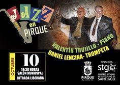 Por segunda vez en Pirque se presentarán estos maestros, ahora enmarcado en el cierre del Ciclo de Jazz. Este viernes 10 de octubre desde las 19:30 horas, en el Salón Municipal de Pirque. Entrada Liberada.
