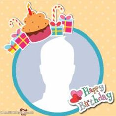 Happy Birthday Frame With Cup Cake and Your Photo.Create Birthday Wishes Photo Frame Online.Personalize Bday Photo Frame Online With Name. Birthday Wishes With Photo, Happy Birthday Posters, Happy Birthday Frame, Birthday Photo Frame, Happy Birthday Photos, Birthday Wishes Funny, Birthday Tags, Birthday Frames, Birthday Background