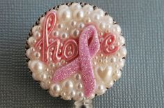 Breast Cancer Hope For The Cure ID Badge Reel