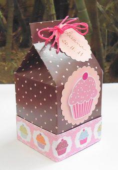 Caixa para lembrança Cupcake
