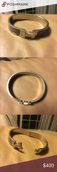 Hermès Clic H Bracelet Silver hardware with lavender enamel. Size PM. Purchased three years ago for $690, this beautiful color is no longer available in stores. Very lightly used.  Guaranteed authentic. Hermes Jewelry Bracelets