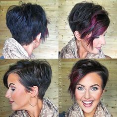 A little pixie 360 for all my short haired lovas! A little pixie 360 for all my short haired lovas! Funky Hairstyles, Pretty Hairstyles, Ladies Hairstyles, Teenage Hairstyles, Layered Hairstyles, Hairstyles 2016, African Hairstyles, Hairstyle Ideas, Pixie Lang