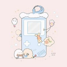 Soft Wallpaper, Kawaii Wallpaper, Cute Wallpaper Backgrounds, Pretty Wallpapers, Aesthetic Drawing, Aesthetic Art, Aesthetic Anime, Arte Do Kawaii, Kawaii Art