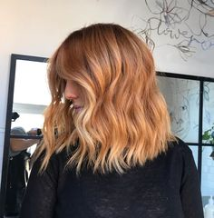Blonde Hair With Copper Lowlights, Copper Blonde Hair, Blonde Hair With Roots, Copper Balayage, Red Blonde Hair, Ginger Hair Color, Strawberry Blonde Hair Color, Peach Hair Colors, Best Hair Dye