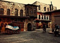 Al Jidedah - old market in Aleppo, Syria