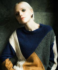 LAYMEE(レイミー)の「Nutley knit(ニット/セーター)」|ネイビー