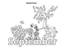 Activities For Kids - September - Colouring In