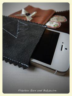 Handytasche aus Leder schnell selbstgenäht