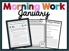 ***UPDATED for the 2016-2017 school year! Now includes 4 additional community building projects & writing prompts for Way to Go Wednesday & Thankful Thursday!!***This a months worth of Morning Work for Upper Elementary! There are 24 days of activities and writing prompts total!