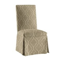 Also for b'fast room - new slipcovers.    Parsons Chair Slipcover -Special Order Fabrics